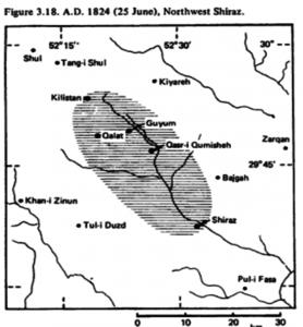 NW Shiraz Earthquake of 25 June 1824, Mw=6.4