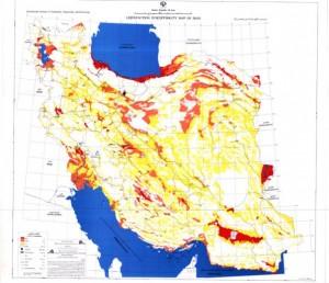 نقشه روانگرایی ایران