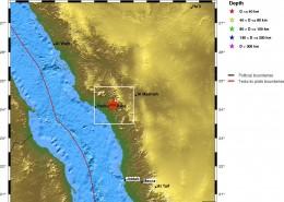 مرکز سطحی زمین لرزه 6 شهریور 1388(7 رمضان 1430 ه.ق.) ، بدر- مدینه منوره، عربستان