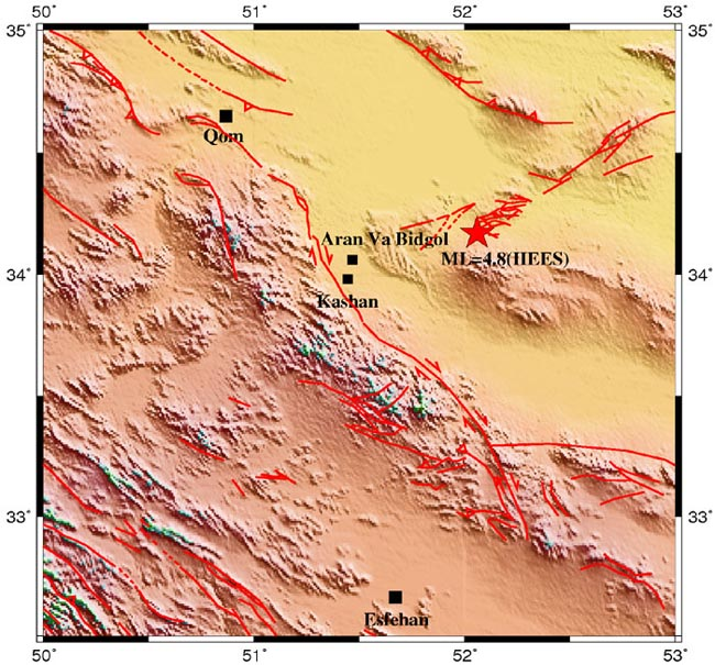 map-faults-kashan