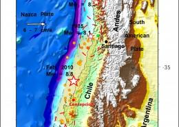 اثر زمین لرزه 27 فوریه 2010 شیلی در کوتاه شدگی طول روزها
