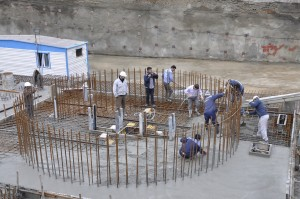 فولادگذاری اتاقک فولادی– بتنی محافظ دستگاه سانتریفیوژ