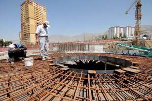 قالب بندی و فولاد گذاری سقف اتاقک بتنی محافظ دستگاه سانتریفیوژ