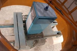 نمایی از دستگاه سانتریفیوژ نصب شده(دید از بالا)