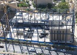 نصب سازه فولادی سالن آزمایشگاه های کف قوی و دیوار عکس العمل